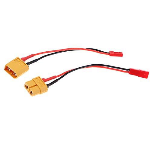 F Fityle 2pcs 5 'XT60 XT-60 a JST Cable de Enchufe Macho / Hembra para Cargador de Batería RC