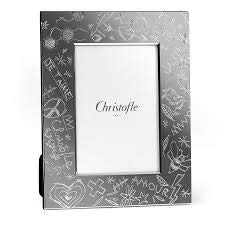 Christofle Graffiti Silver-Plated 4x6 Picture Frame #4256091