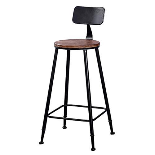 PLLP Sillas de escritorio, taburetes para barra de desayuno, pub, encimera, taburetes de cocina y hogar, estilo industrial retro, 75 cm (29.52 ') de carga máxima de 200 kg