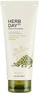 The Face Shop Herb Day 365 Master Blending Foaming Cleanser, Mung Bean & Mugwort, 170ml