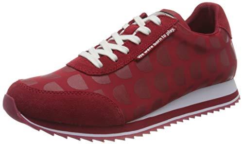 Desigual Shoes_Pegaso_logomania, Scarpe da Ginnastica Donna, Red, 43 EU