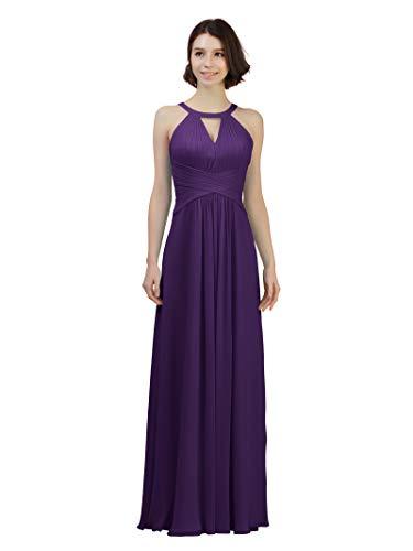 Alicepub Keyhole Bridesmaid Dress Long Formal Evening Prom Gown for Wedding Maxi, Regency, US10