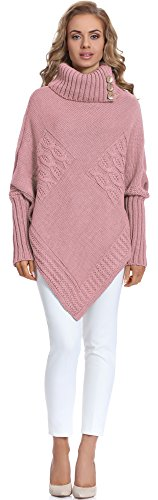 Merry Style Damen Poncho M83N4 (Puderrosa, One size)