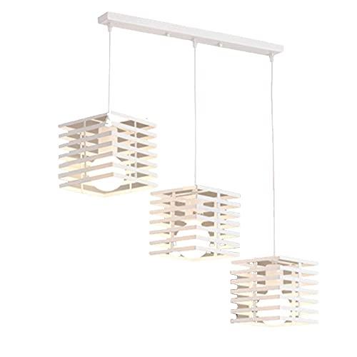 LLLKKK Lámpara de techo colgante de geometría nórdica, estilo vintage, lámpara de techo rústica, E27, decoración de interiores, para porche, salón o comedor