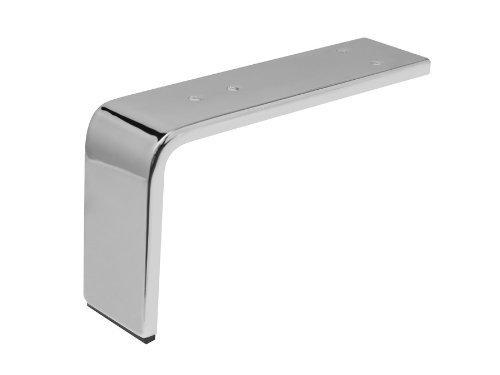 Möbelfuß Chrom 130 x 235 x 60 mm Schrankfuß Polsterfuß von SO-TECH