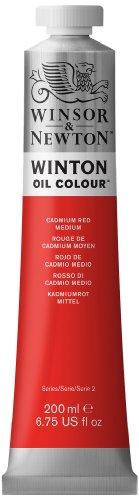 Winsor & Newton Winton Oil Color Paint, 200-ml Tube, Cadmium Red Medium