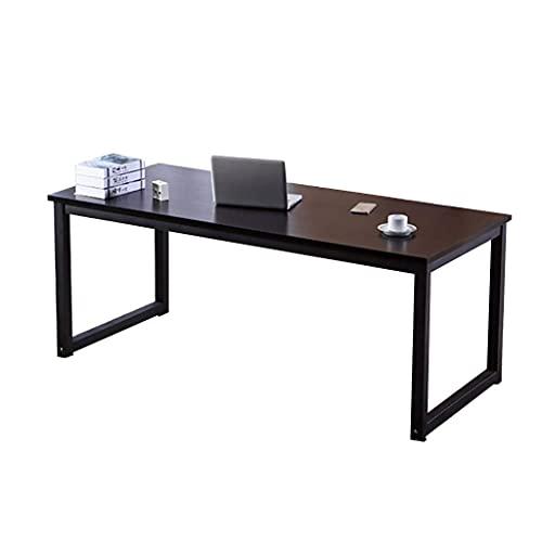 XXSHN qx Escritorios Mesas Escritorio, Escritorio de computadora, Marco de Acero + Escritorio de Madera de Grado, Escritorio de Escritorio para el hogar Simple Mesa de Comedor, B, 80x60x74cm