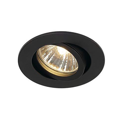 Preisvergleich Produktbild SLV Deckeneinbauleuchte NEW TRIA 68 / Spot,  Fluter,  Deckenstrahler,  Deckenleuchte,  Einbau-Leuchte LED,  Innen-Beleuchtung / GU10 50.0W schwarz