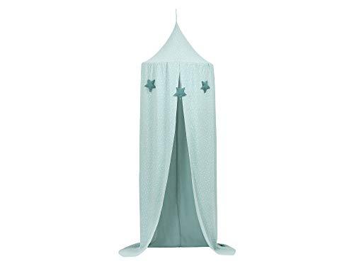 KraftKids Hänge-Zelt in Musselin mint Pusteblumen, Baldachin aus Baumwolle für das Kinderzimmer, 65 x 210 cm, inkl. Schlafmatte
