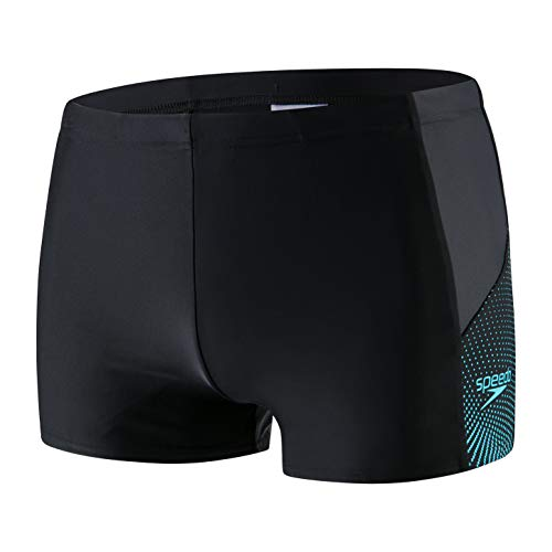 Speedo - Bañador de Buceo para Hombre, Hombre, Color Boom Blk/Aqua Splash/Oxid, tamaño Size: 36