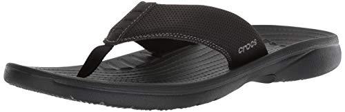 Crocs Men's Bogota Flip Flop, Black, 11 M US