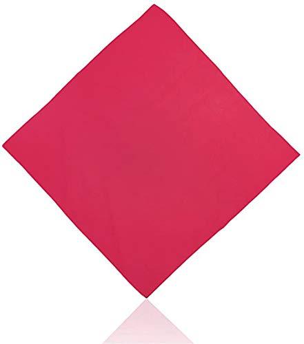 Unisex hombres mujer liso color sólido 100% algodón bandana cara cubierta máscara facial para exteriores cabeza cuello muñeca handwrap, pulsera, bufanda, Rojo rosso Talla única
