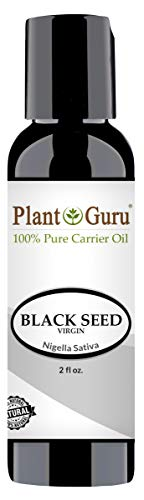 Black Seed Oil 2 oz Virgin, Unrefined Cold Pressed Cumin 100% Pure Natural - Skin, Body and Hair. Great For Eczema