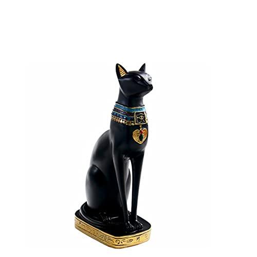 Estatua de gato de faraón egipcio, figura de gato egipcio,