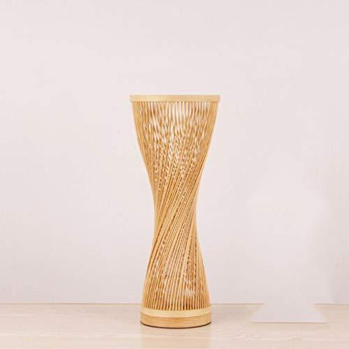 Lámpara de Escritorio El bambú de mimbre Rattan Spire Jarrón Lámpara de mesa Fixture creativo rústica de estilo asiático Japonés Coreano turística Abajur luz del dormitorio de noche Lámpara de Mesa