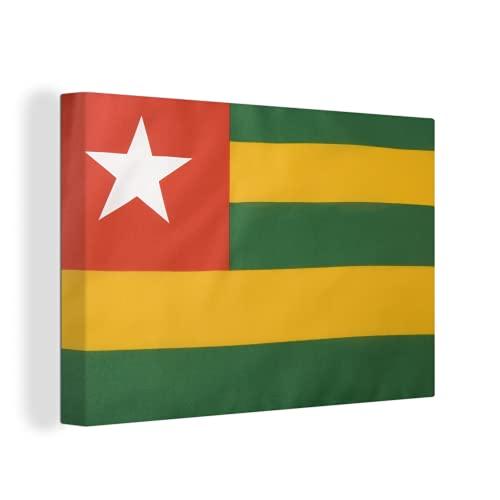 Leinwandbild - Flagge von Togo - 150x100 cm