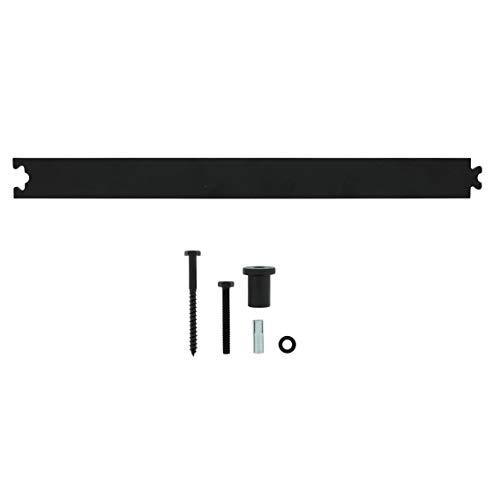 INTERSTEEL - Zwischenschiene Mattschwarz - Verlängerung für Schiebetüren, Innentüren und Wandschränke- 45 cm