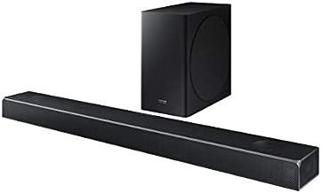 Samsung Harman Kardon 5.1.2 Dolby Atmos Soundbar HW-Q80R with Wireless Subwoofer, Adaptive Sound, Game Mode, 4K Pass-Through with HDR, Bluetooth & Alexa Compatible