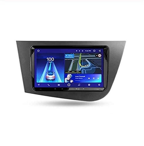 YIJIAREN Radio GPS Navegación para Seat Leon 2 2005-2012, Pantalla táctil 2.5D Android 10.0 Coche Estéreo Sat Nav Soporte de Control del Volante BT Mirror-Link 4G WiFi