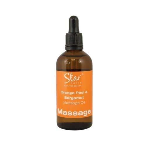 Star Nails Orange Peler & Bergamote Massage Huile 100ml Manucure Pédicure Corps