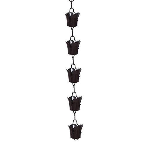 YARNOW 1 m lange Blumen-Regenketten für den Winter, Drainage-Kette, Regenschalen, Ersatz für Regenrinne, Regenglocke, Garten-Kette, Glocke, dekorativ für Haus und Garten