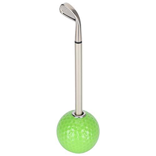 SONK Soporte para bolígrafo Juego de Regalo de bolígrafo de Golf, Juego de Golf de Escritorio Duradero, Estable para bolígrafo para Amantes del Golf(Green)