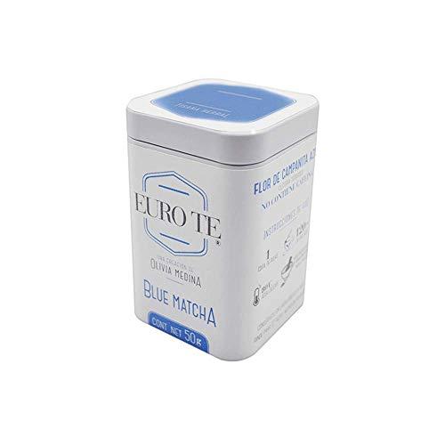 EURO TE - Blue Matcha - lata de 50 gramos - Polvo de Blue Butterfly Pea Flower (Flores de Campanita Azul)