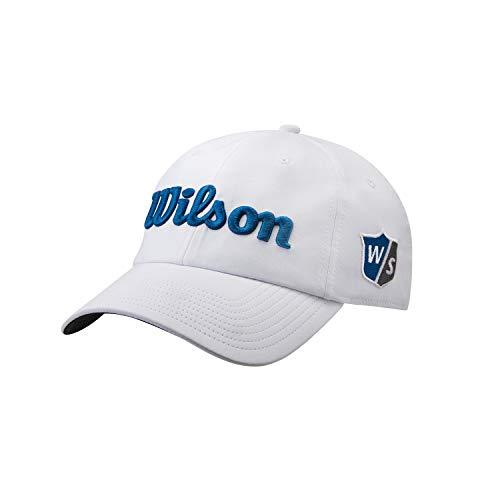 Wilson Hombre Gorra de golf, PRO TOUR, Poliéster, Blanco/Az