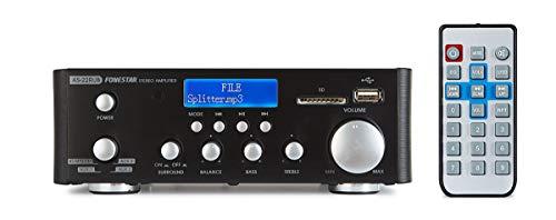 AMPLIFICADOR STEREO 2x12W USB BT FM FONESTAR