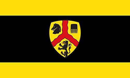 magFlags Flagge: Large Hissflagge der Stadt Harsewinkel Kreis Gütersloh Das Wappen der Stadt Harsewinkel zeigt in Gold Gelb einen roten Wellengöpel | Querformat Fahne | 1.35m² |