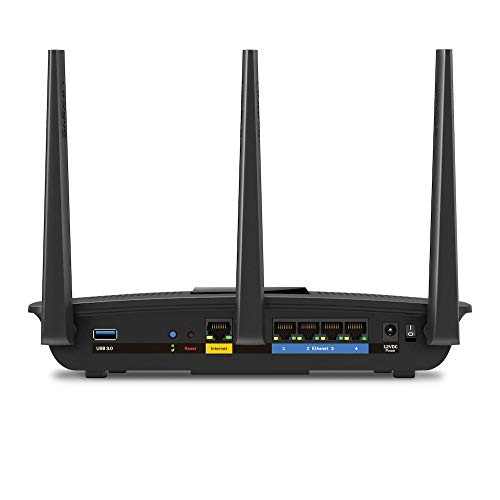 Linksys AC1750 Router Wi-Fi Max-Stream MU-MIMO, Dual-Band, Wireless Veloce, Giochi e Streaming 4K UHD, 4 Porte Ethernet Gigabit
