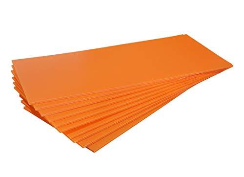 【国産10枚入】プラダンシート オレンジ 幅300mm×長700mm 厚5mm 【アウトレット】