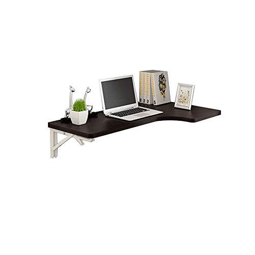 Faltbarer Wandtisch L-förmiger Tisch-Eck-Klapptisch Wand Hängende Wand Tisch Heimcomputer Schreibtisch Ecktisch Schwarz (größe : 100 * 60cm)