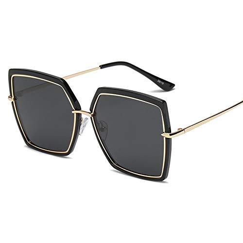 Gafas de sol, gafas de sol de tendencia de moda para mujer de 2019, cuadrada, estilo de calle, gafas de sol, al por mayor, personalizadas ( color : A )