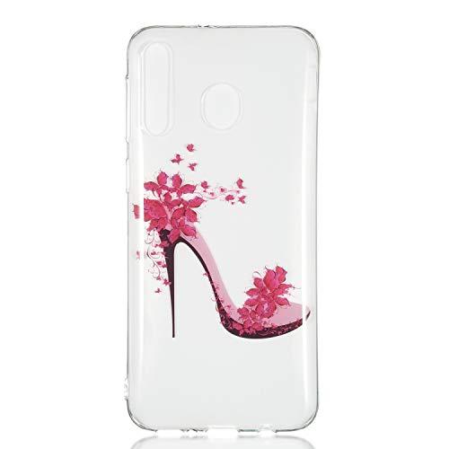 Stylishen Glamour Glitzer Crystal Bumper Hülle für Huawei P30 Lite,Glänzend Bling Glitzer Kristall Diamond Crystal Durchsichtig TPU Silikon Gel Hülle