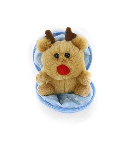 Plushland Snowball Stuffed Zip up Animal – Reindeer – Cute Plush Animals Assortment – Wonderful Soft Toy for Families and Friends