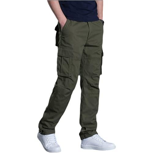 Huntrly Pantalones Cargo para Hombre Pantalones Cargo Sueltos de Pierna Recta con múltiples Bolsillos Pantalones Deportivos al Aire Libre con Marea de otoño e Invierno XXL