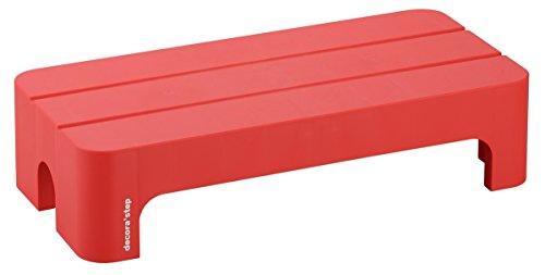 サンカ デコラステップショート Lサイズ レッド 幅590×奥行280×高さ140mm DS-SLRE