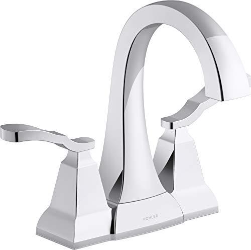 KOHLER K-R30997-4D-CP Ridgeport Bathroom Sink Faucet, Polished Chrome