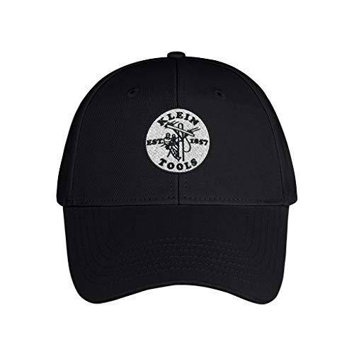 Klein Tools Embroidered Baseball Cap/Hat Unisex Adjustable Dad Trucker Snapback - Plain Sports Fashion Quality Hat Black