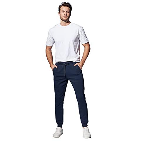 Red Snapper Herren Joggpants, Jogginghose, Sweatpants lang, weiche Innenseite, Urban Style, aus nachhaltiger Baumwolle (BCI) (Navy, M)