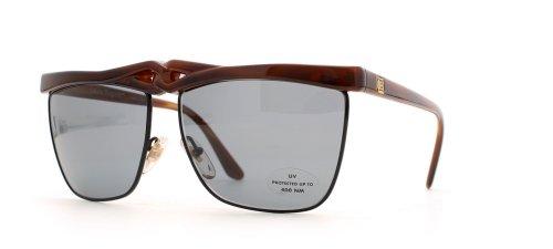 Laura Biagiotti P36 41S rosso nero quadrato certificato occhiali da sole vintage per le donne