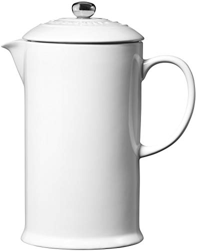 Le Creuset Stoneware French Press, 34 oz., White