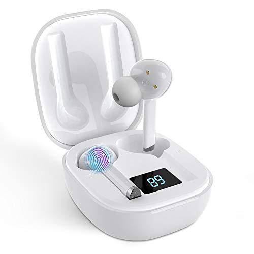 Bluetooth Kopfhörer in Ear Drahtlose Kopfhörer AFXMATE IPX5 Kabellose Sport Kopfhörer In-Ear-Headset mit Ladekoffer und integriertem Mikrofon
