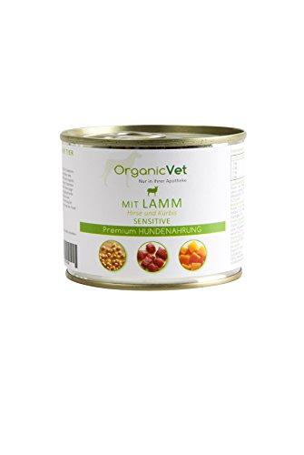 OrganicVet hond natte voering Sensitive Lamm met herten en pompoenen, 6-pack (6 x 200 g)