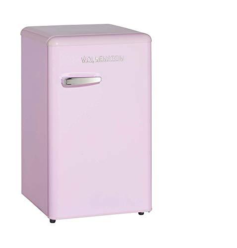 Wohnorama WOLKENSTEIN KS95RT SP Retro-Kühlschrank 88 cm hoch Pink