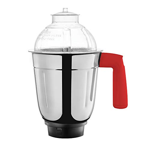 Borosil - ARO(750 Watts) Mixer Grinder with 3 Stainless Steel Jar, Red