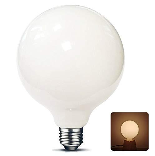 G125 Big LED Globus E27 Light bulb Frosted 10W (2700K Warmweiß, Nicht dimmbar) Ideal für Nostalgie und Retro Beleuchtung [Energieklasse A++]