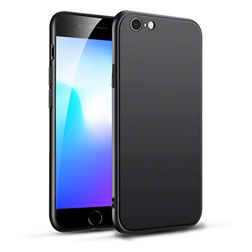 Eiselen Silicone Case Kompatibel mit iPhone 6 Hülle & Kompatibel mit iPhone 6s Hülle, Mattierte TPU Hochwertiges Silikon, Rundumschutz Handyhülle Schutzhülle (Schwarz)