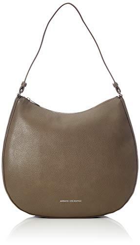 ARMANI EXCHANGE Hobo Bag - Borse a spalla Donna, Marrone (Taupe), 10x10x10 cm (W x H L)